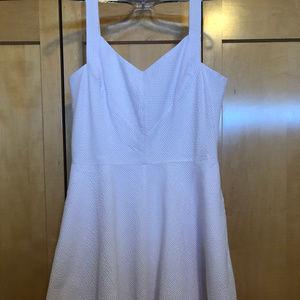 Ann Taylor Pink/White Gingham dress Sz 10P NWT